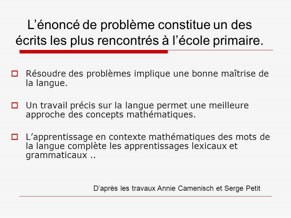 Résoudre des problèmes implique une bonne maîtrise de la langue.
