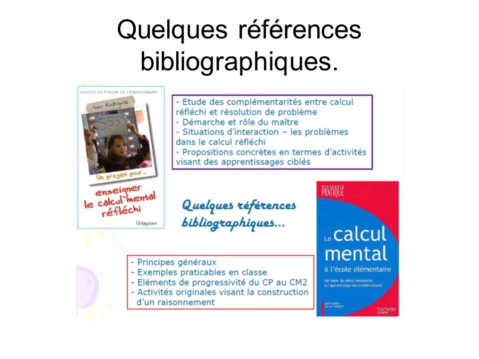 Quelques références bibliographiques.
