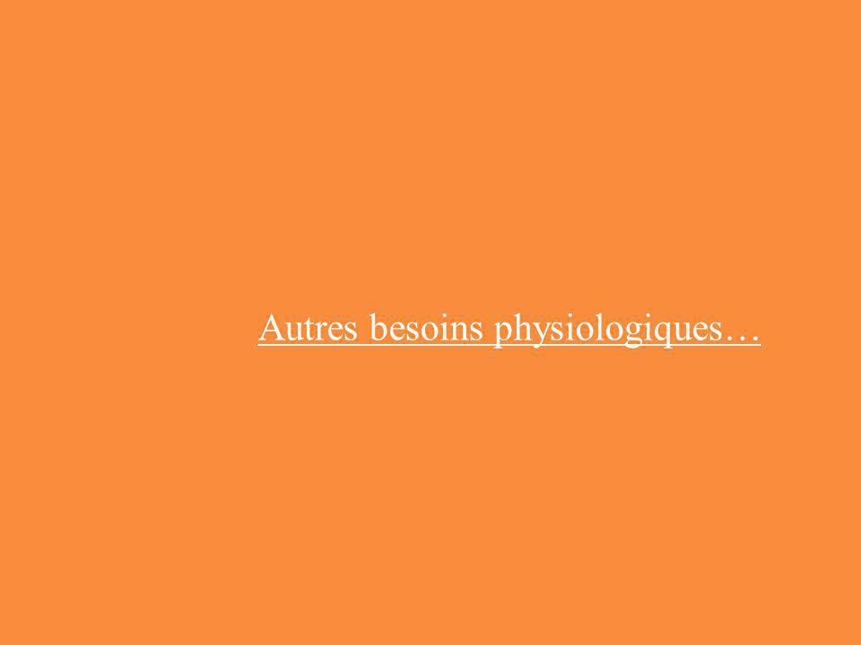 Autres besoins physiologiques…