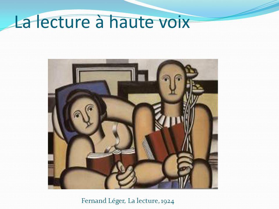 La lecture à haute voix Fernand Léger, La lecture, 1924