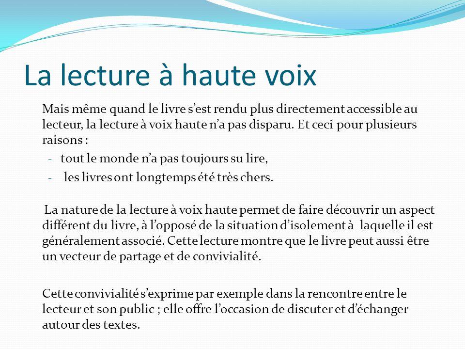 Des questionnements concernant la pratique de la lecture à voix haute Cette capacité sera développée principalement dans le cadre du cours de Français, mais toutes les disciplines peuvent contribuer à son acquisition par une pratique régulière, progressive et accompagnée.