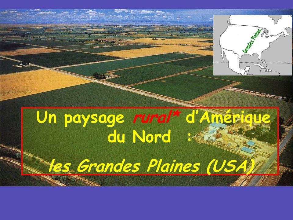 Un paysage rural* dAmérique du Nord : les Grandes Plaines (USA)