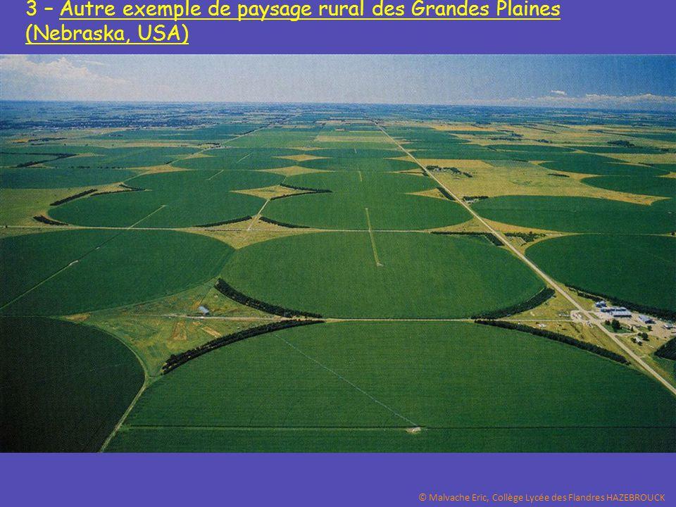 3 – Autre exemple de paysage rural des Grandes Plaines (Nebraska, USA) © Malvache Eric, Collège Lycée des Flandres HAZEBROUCK