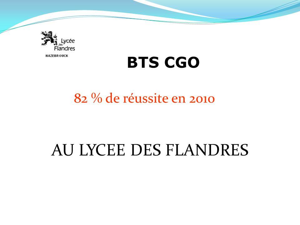 BTS CGO 82 % de réussite en 2010 AU LYCEE DES FLANDRES