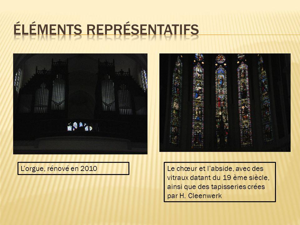 Lorgue, rénové en 2010Le chœur et labside, avec des vitraux datant du 19 ème siècle, ainsi que des tapisseries crées par H.
