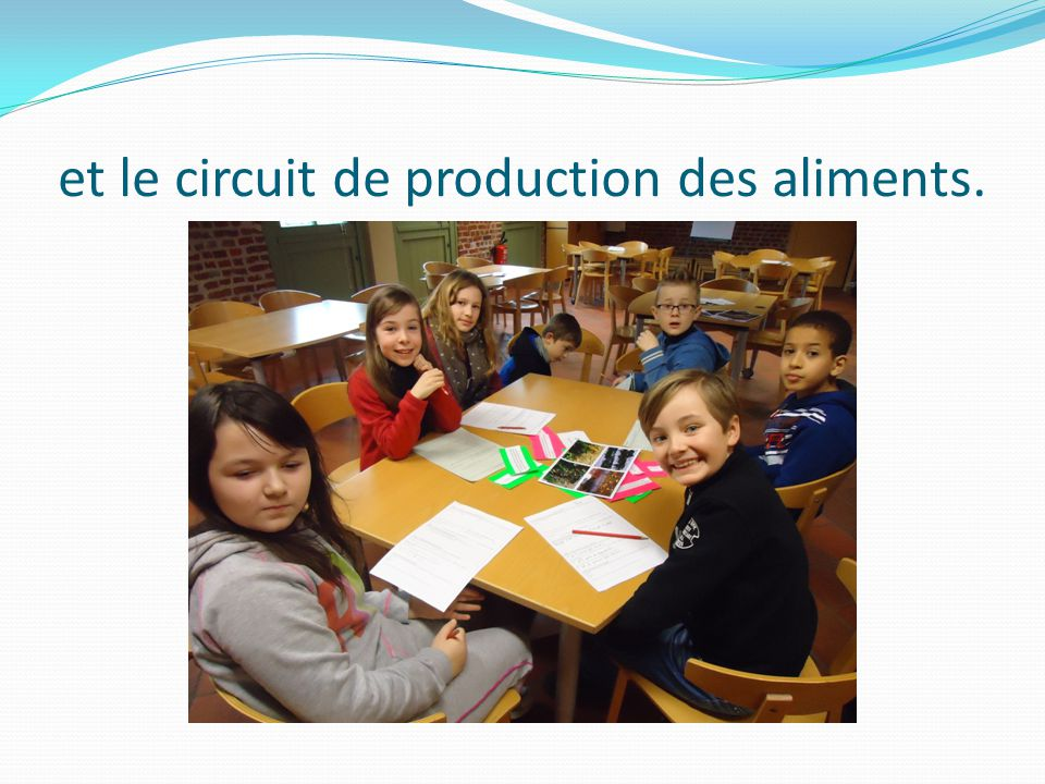 et le circuit de production des aliments.