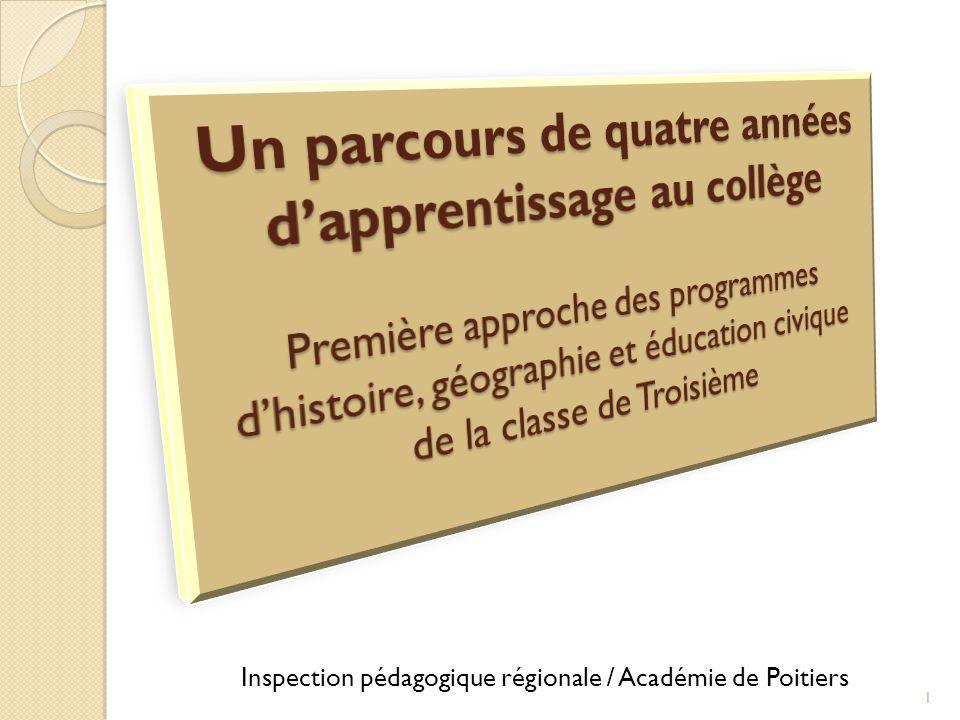 Inspection pédagogique régionale / Académie de Poitiers 1