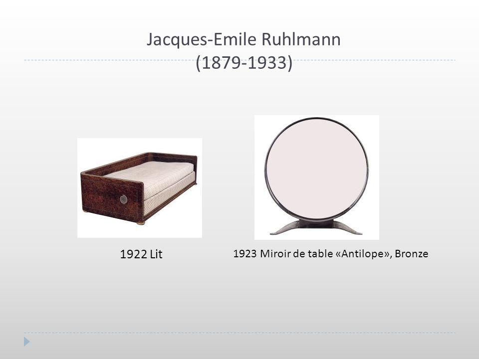 Eileen Gray (1878-1976) 1925 Paravent, Bois laqué 1926 Fauteuil «Transat» Structure: Sycomore, Assise: Cuir