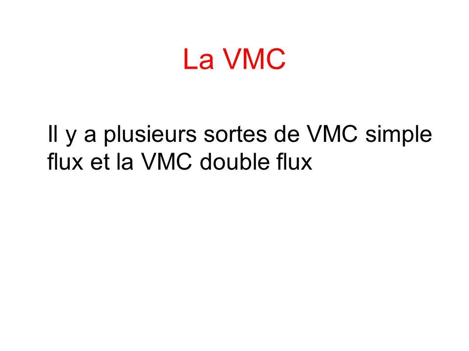La VMC Il y a plusieurs sortes de VMC simple flux et la VMC double flux