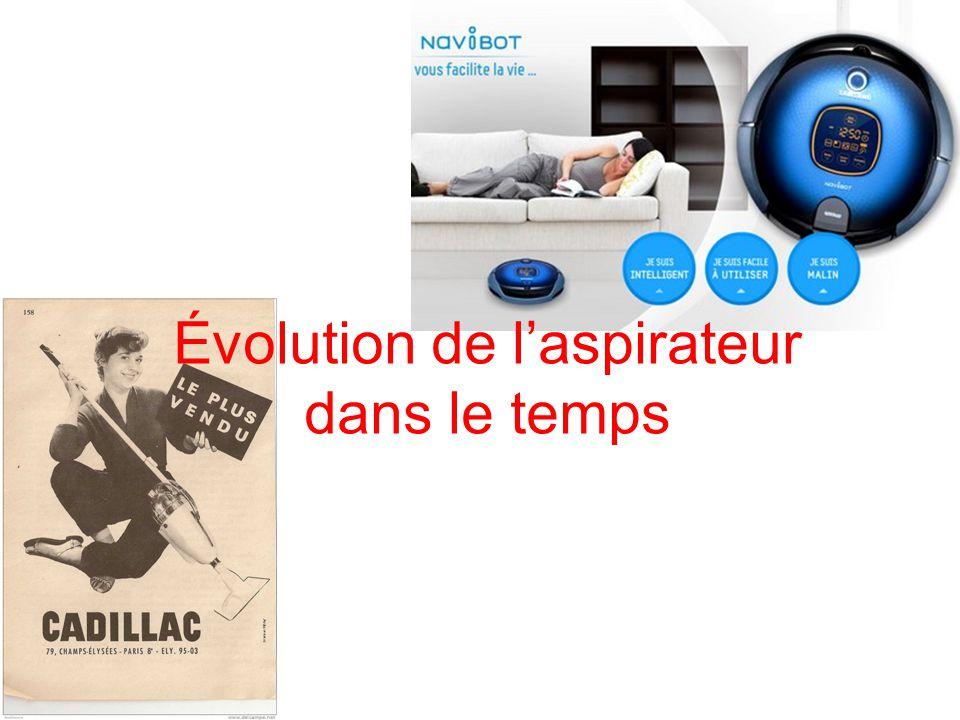 Évolution de laspirateur dans le temps