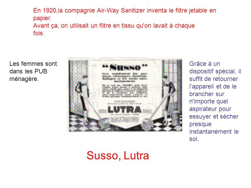 Les années 1940 Maintenant certains aspirateurs sont vendus avec des cireuses.