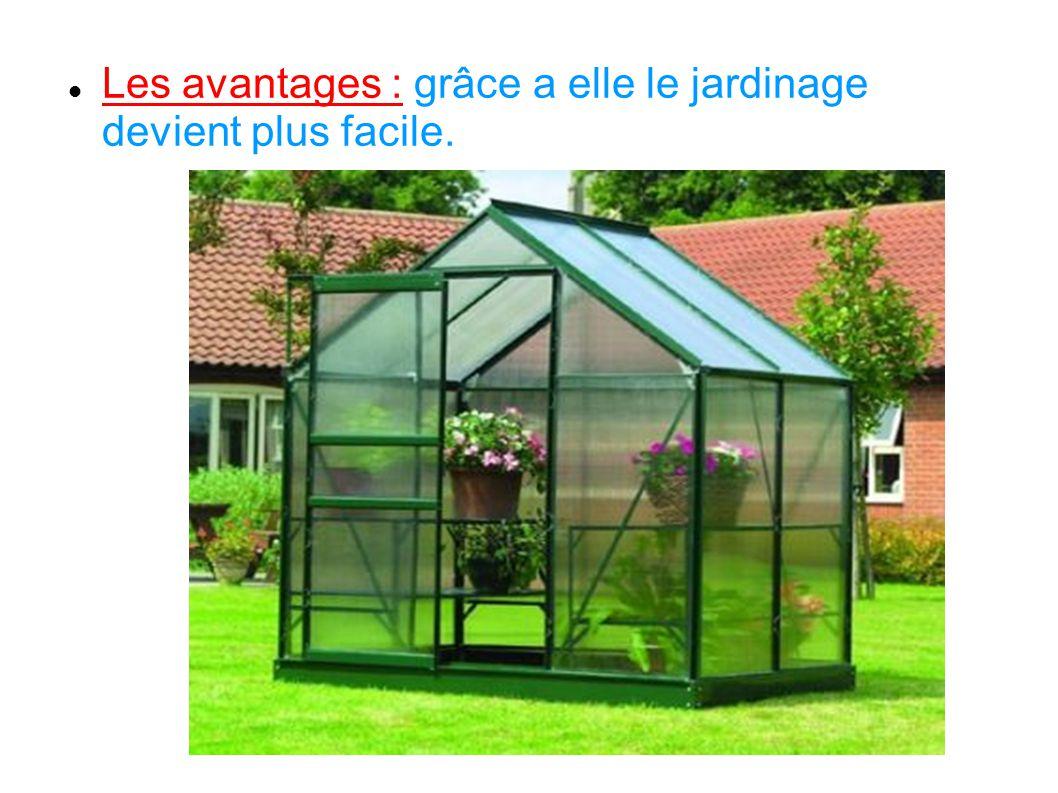 Les avantages : grâce a elle le jardinage devient plus facile.