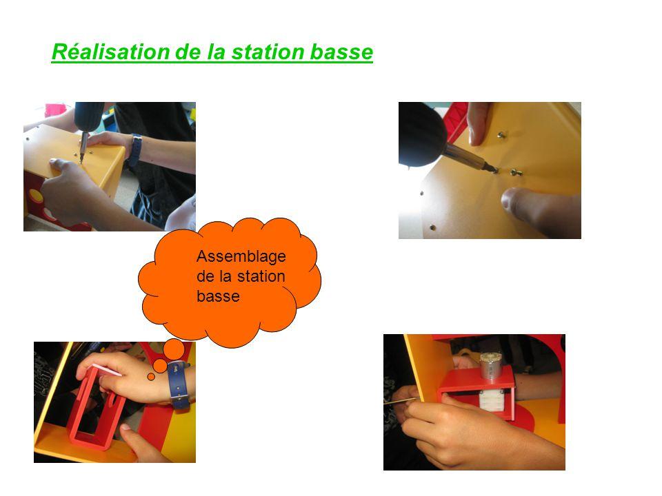 Réalisation de la station basse Assemblage de la station basse