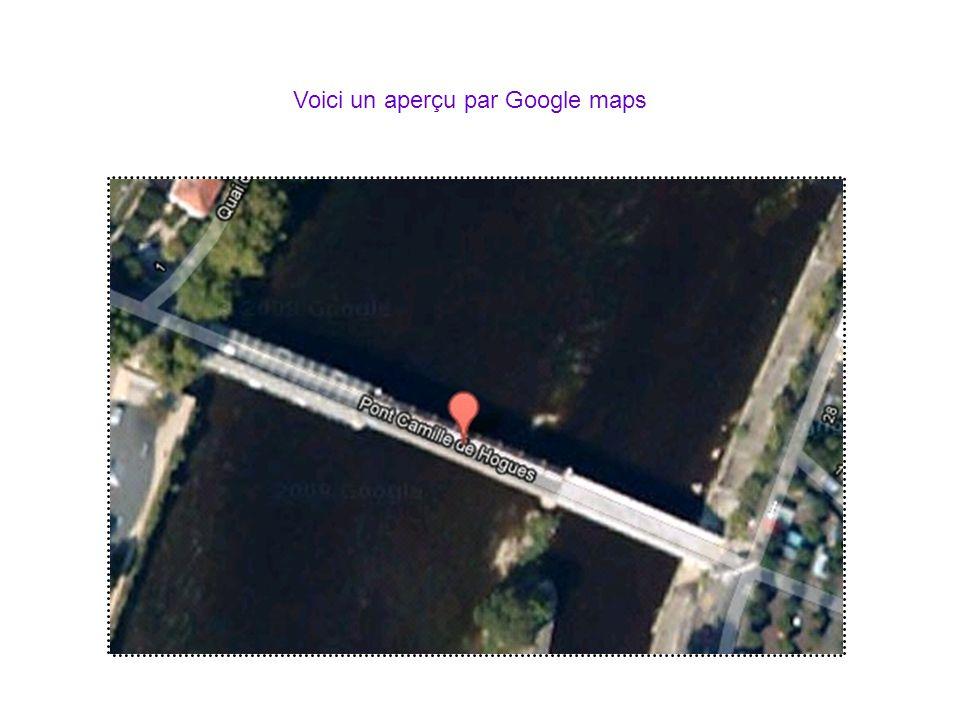 Voici lendroit ou se situe Châtellerault et le pont Camille de Hogues