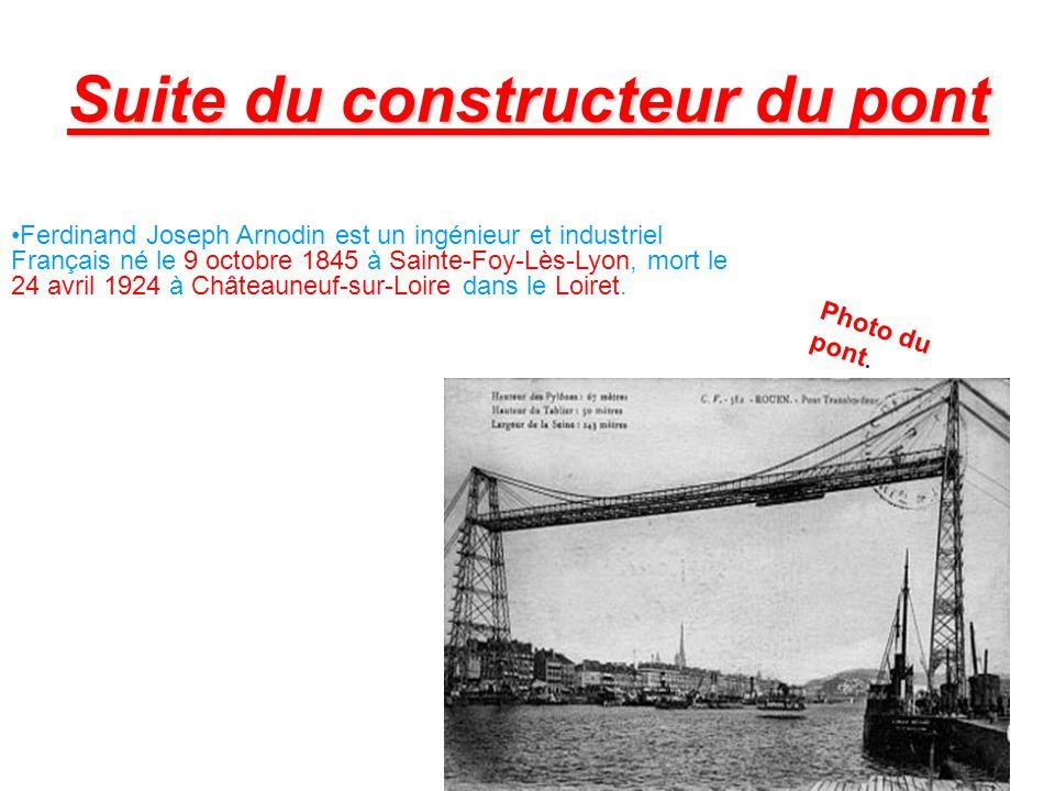 Conclusion Nous en conclure que le pont transbordeur de Rochefort est un grand pont qui mesure 14,60 mètre de longueur et 11,60 mètre de largeur.