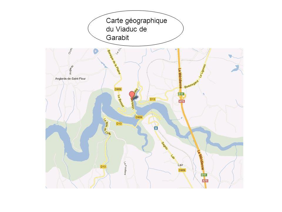 Carte géographique du Viaduc de Garabit