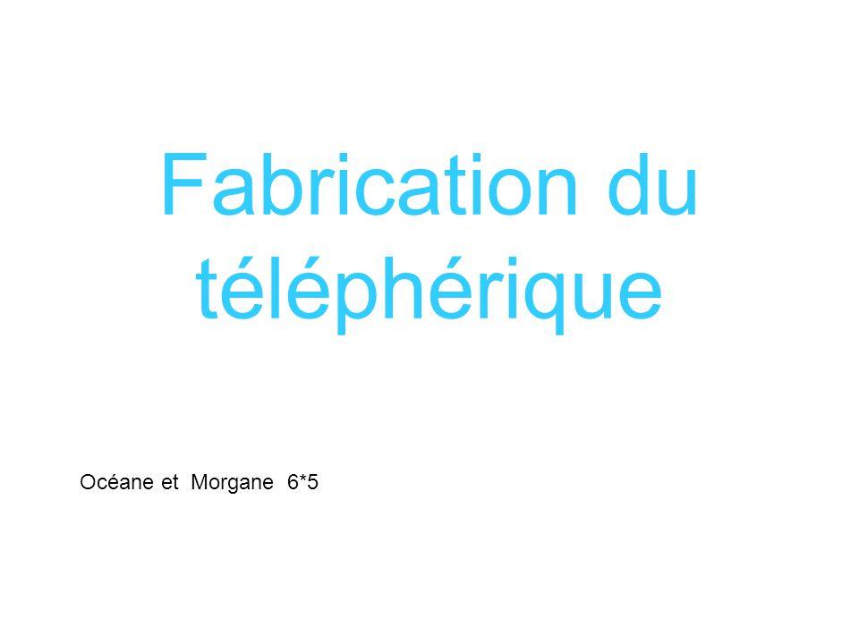 Fabrication du téléphérique Océane et Morgane 6*5