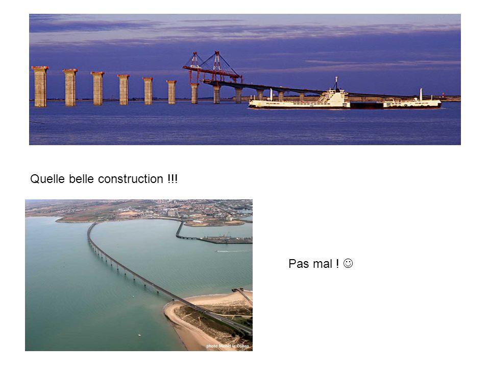 Quelle belle construction !!! Pas mal !