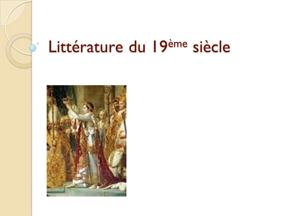 Littérature du 19 ème siècle