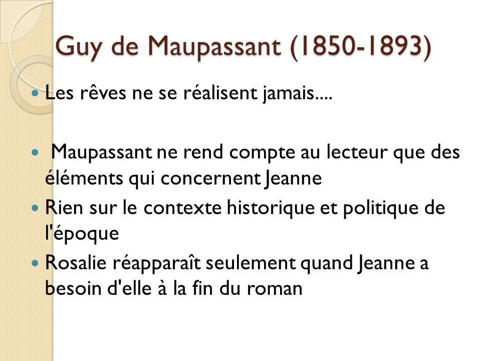 Guy de Maupassant (1850-1893) Les rêves ne se réalisent jamais....