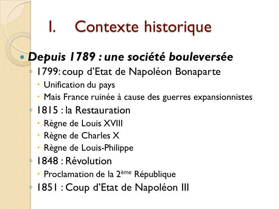 Stendhal (1783-1842) 1796 entre à lEcole centrale de Grenoble 1799 A Paris pour le concours de Polytechnique, mais il abandonne 1800-1801 Participe à la campagne dItalie (devient sous- lieutenant) Emerveillé par lItalie