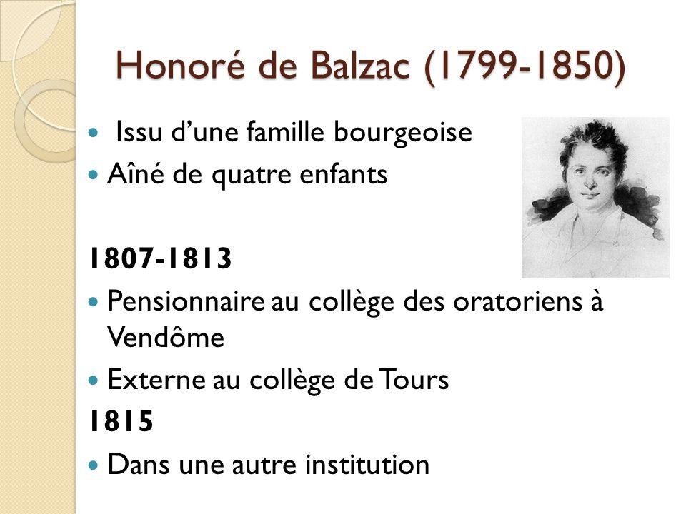 Issu dune famille bourgeoise Aîné de quatre enfants 1807-1813 Pensionnaire au collège des oratoriens à Vendôme Externe au collège de Tours 1815 Dans une autre institution
