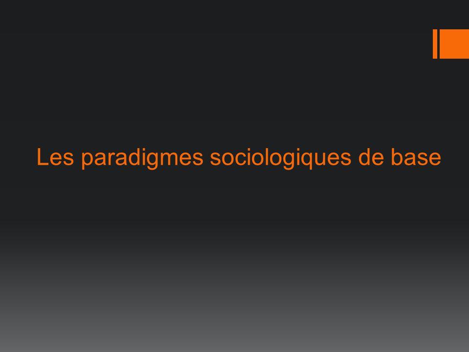 Les paradigmes sociologiques de base