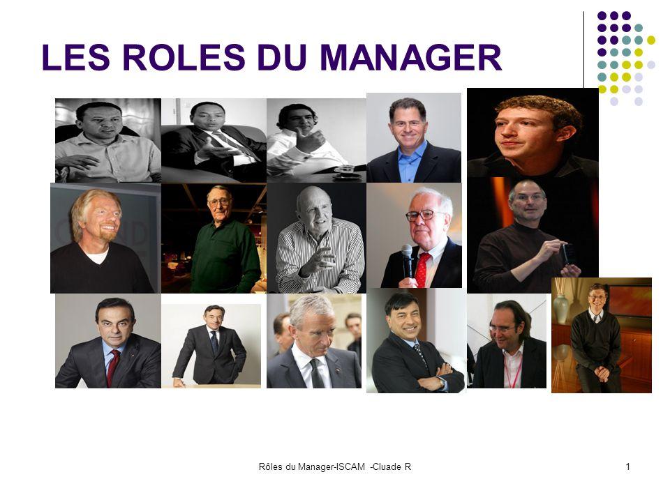 Rôles du Manager-ISCAM -Cluade R1 LES ROLES DU MANAGER