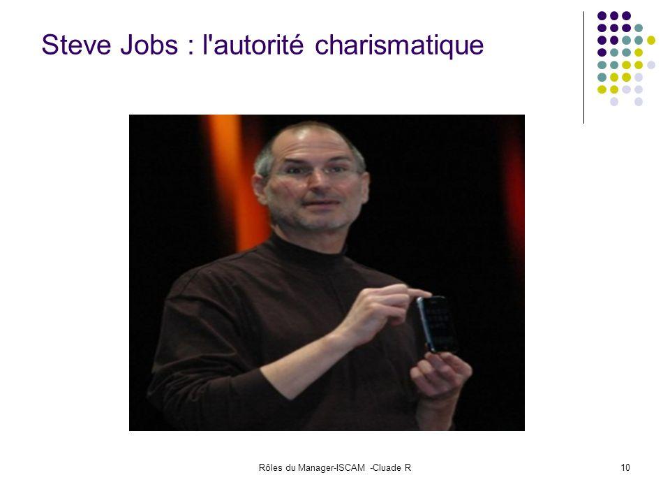 Rôles du Manager-ISCAM -Cluade R10 Steve Jobs : l'autorité charismatique