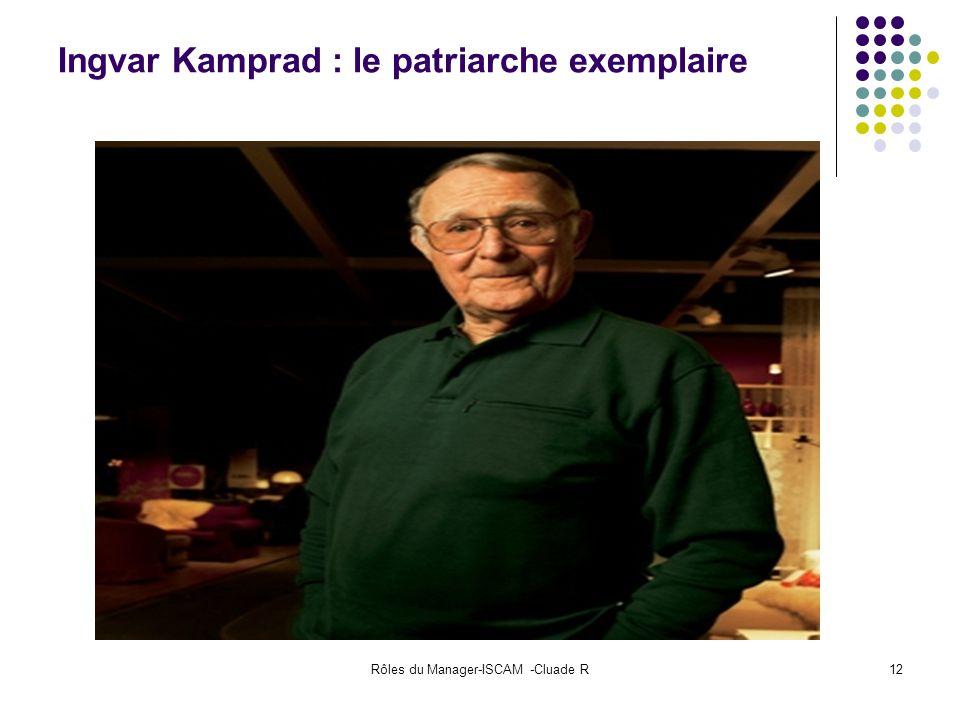 Rôles du Manager-ISCAM -Cluade R12 Ingvar Kamprad : le patriarche exemplaire