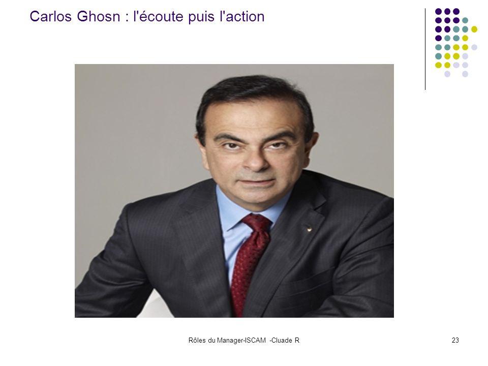 Rôles du Manager-ISCAM -Cluade R23 Carlos Ghosn : l'écoute puis l'action