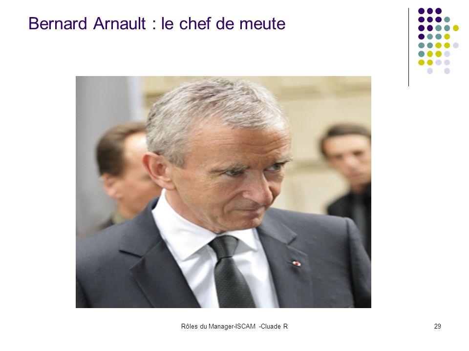 Rôles du Manager-ISCAM -Cluade R29 Bernard Arnault : le chef de meute