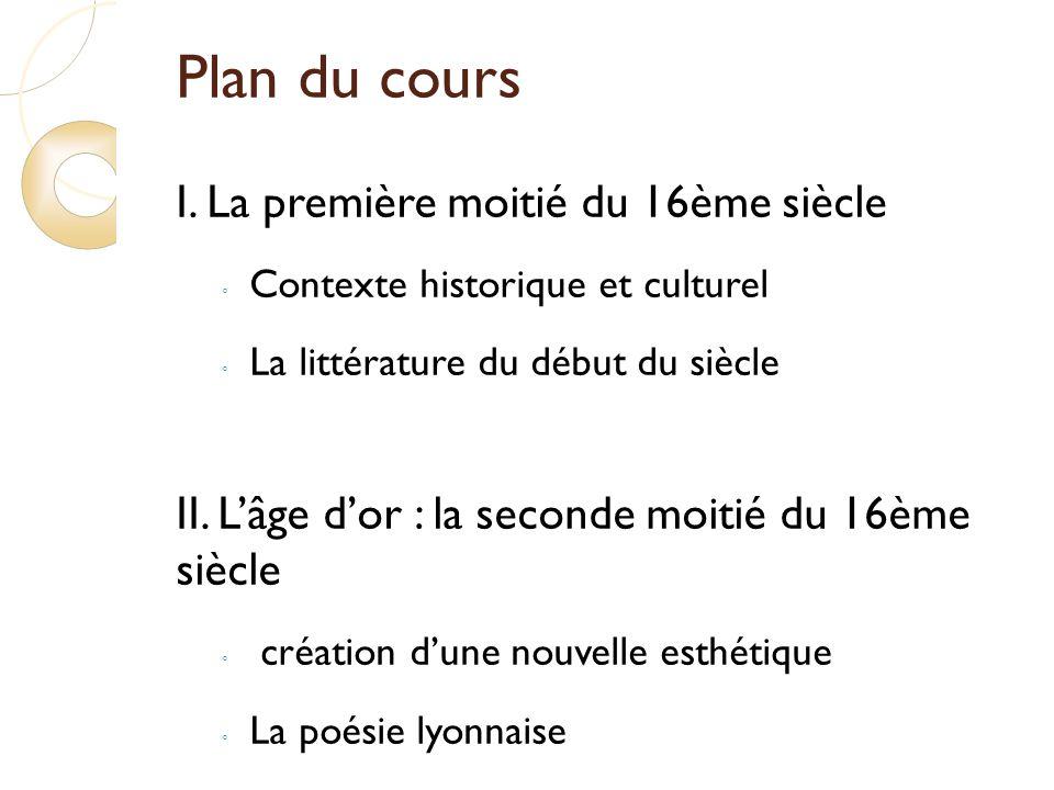 Plan du cours I.