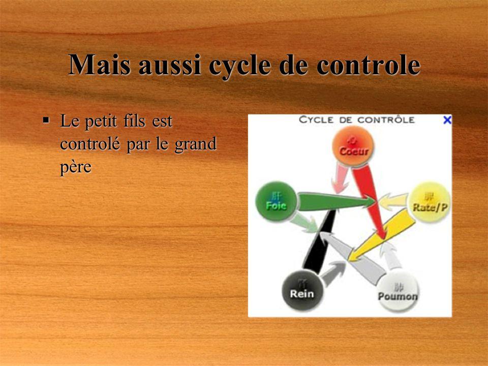 Mais aussi cycle de controle Le petit fils est controlé par le grand père