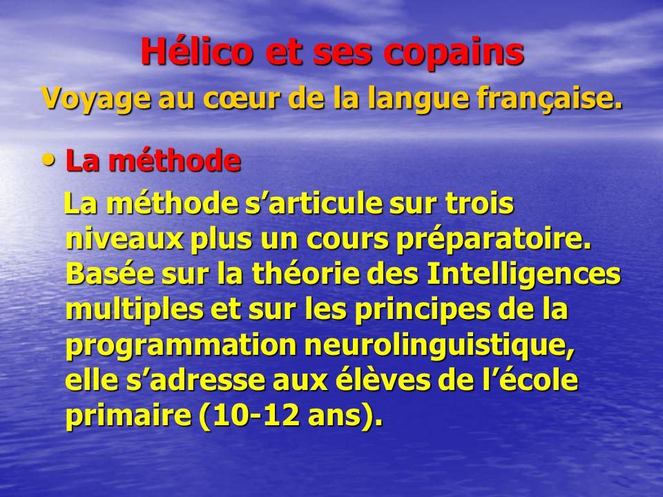 Hélico et ses copains Voyage au cœur de la langue française. La méthode La méthode La méthode sarticule sur trois niveaux plus un cours préparatoire.