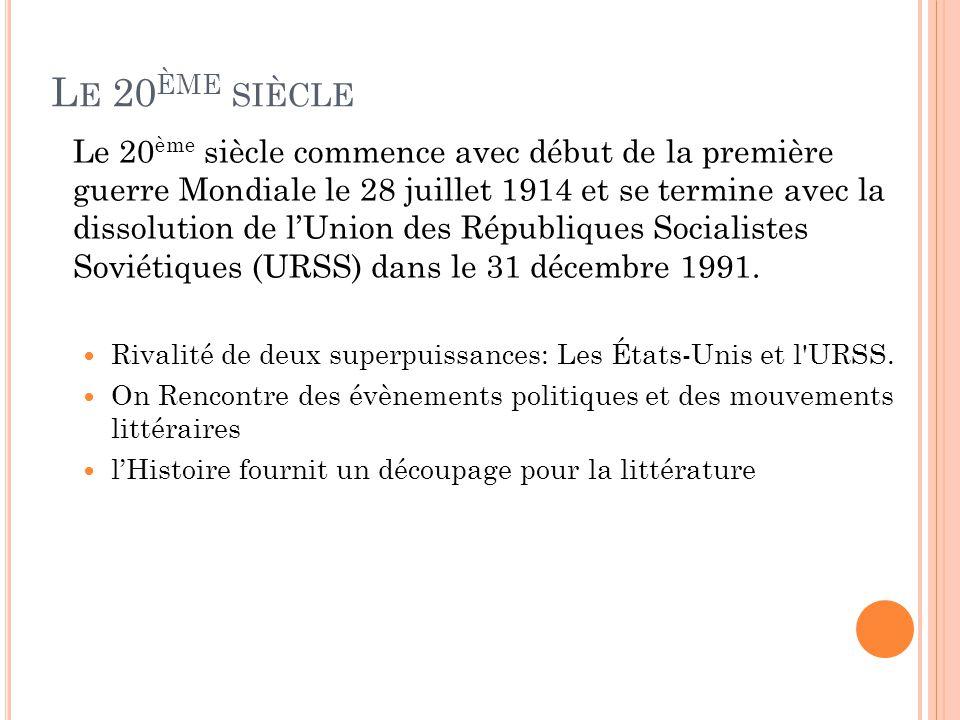 Lexistentialisme de Jean-Paul Sartre Littérature de l absurde d Albert Camus et d Eugène Ionesco.
