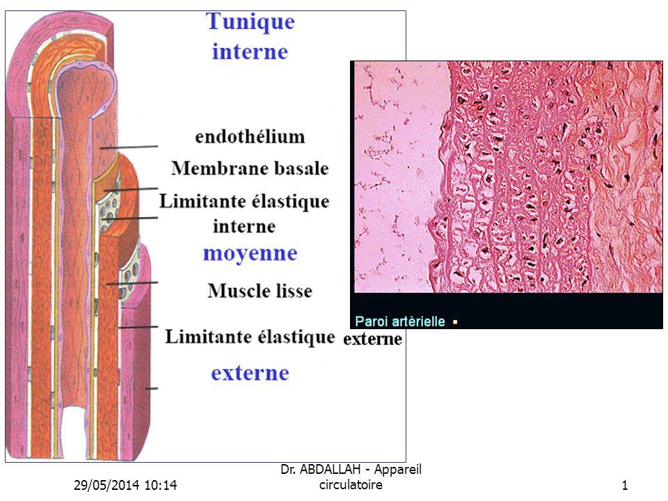 29/05/2014 10:16 Dr. ABDALLAH - Appareil circulatoire1