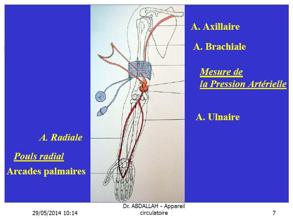 29/05/2014 10:16 Dr. ABDALLAH - Appareil circulatoire7