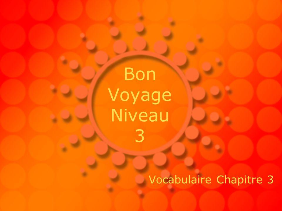Bon Voyage Niveau 3 Vocabulaire Chapitre 3