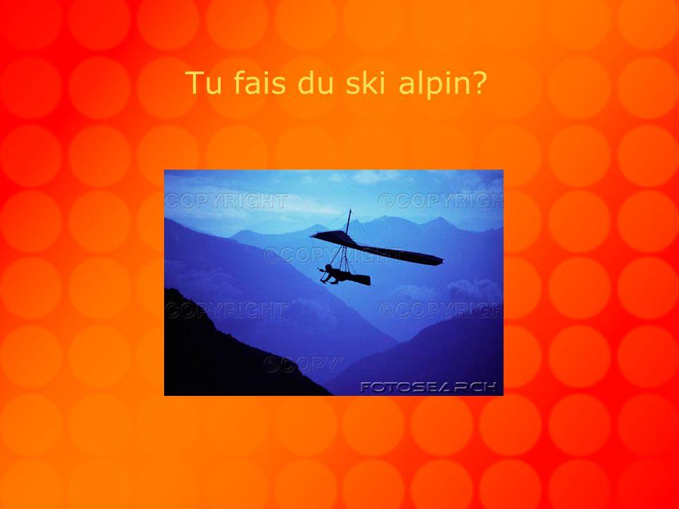 Tu fais du ski alpin?