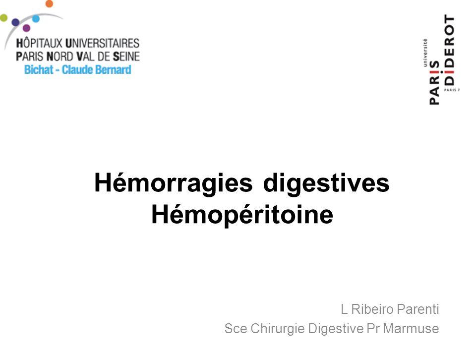 Hémorragies Digestives Basses - la démarche diagnostique (3) - Lartériographie mésentérique –Visualise le saignement si débit hémorragique > 0.5 ml / mn –Méthode invasive, sensibilité 60% si hémorragie active –Permet une embolisation ++ Si lésion du grele suspectée –Entéro-scanner: –Entéroscopie –Vidéo capsule endoscopique –Scintigraphie aux hématies marquées ( technétium 99 ) –Transit baryté du grele –Laparotomie + enteroscopie per-opératoire