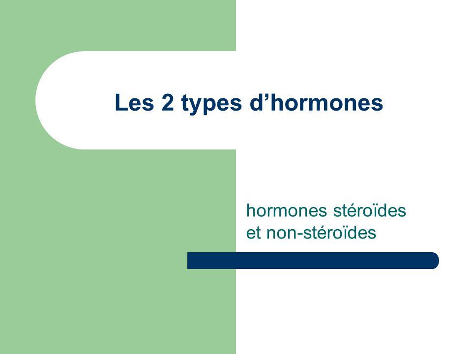 Les 2 types dhormones hormones stéroïdes et non-stéroïdes