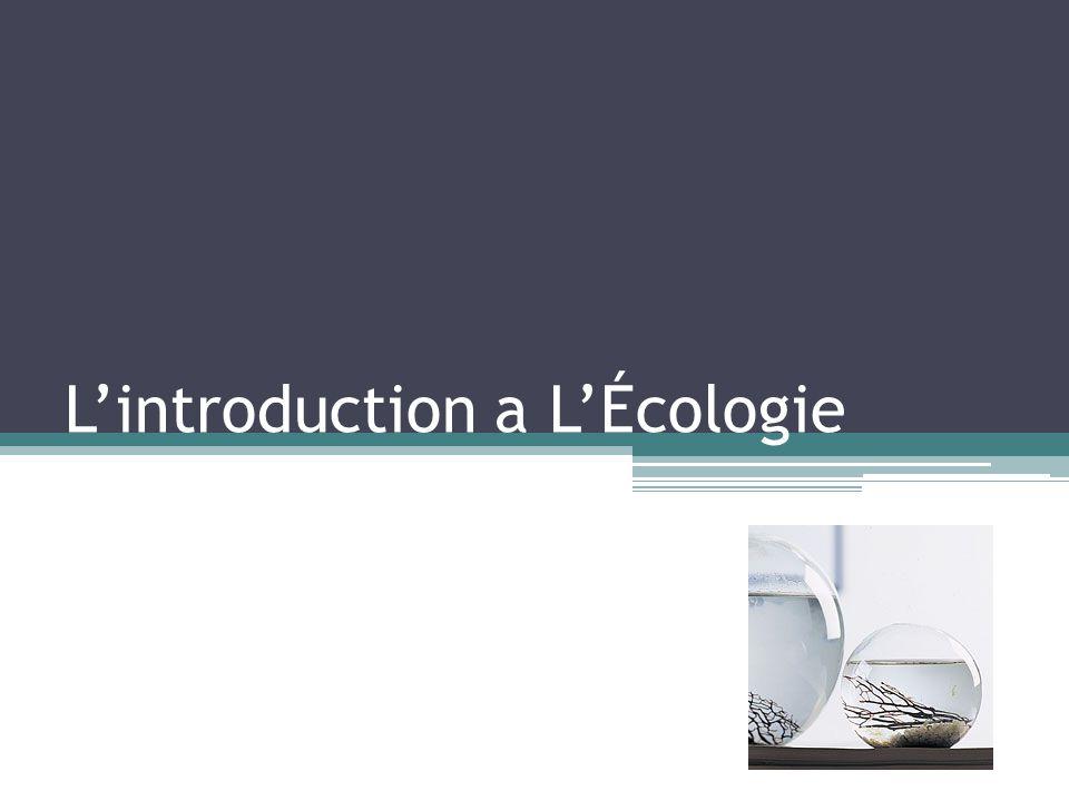 Lintroduction a LÉcologie