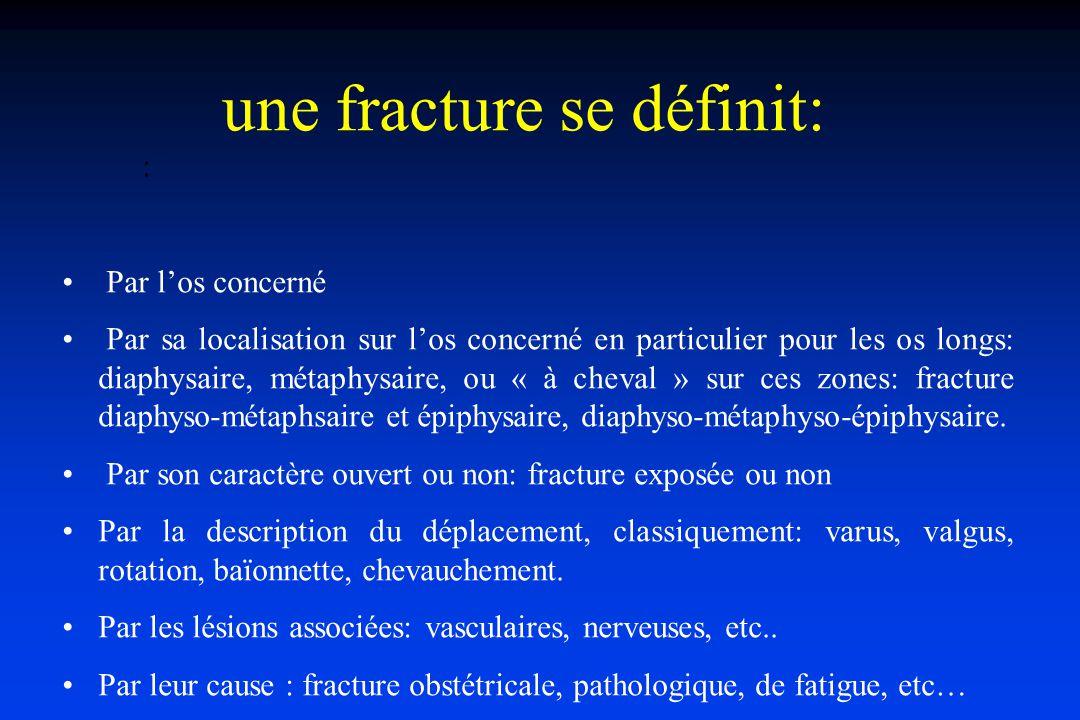 Fractures métaphyso- épiphysaires