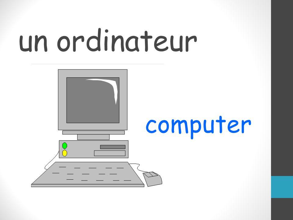 un ordinateur computer