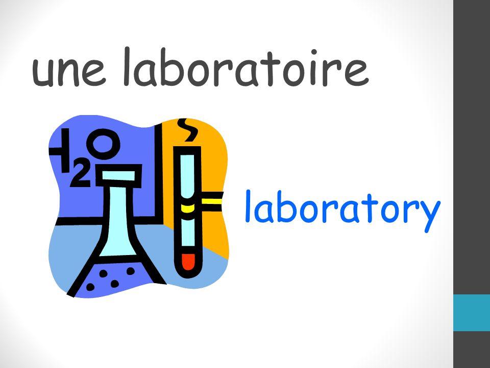 une laboratoire laboratory