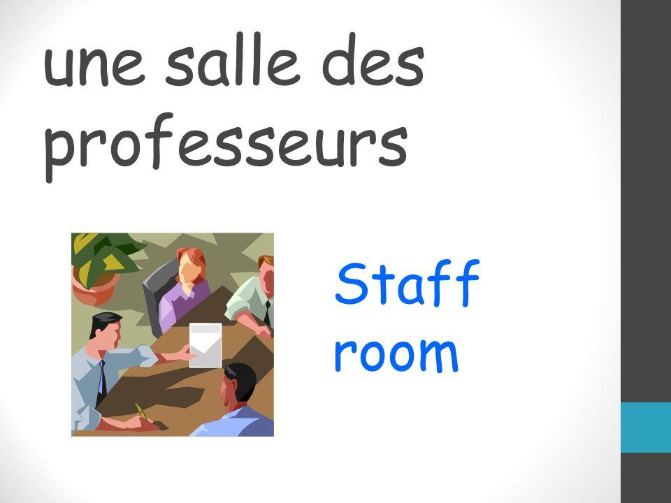 une salle des professeurs Staff room