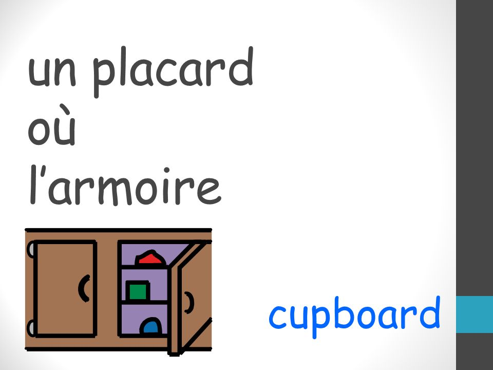 un placard où larmoire cupboard