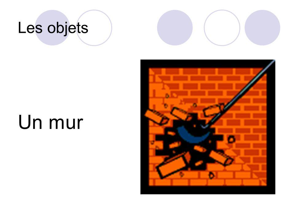 Les objets Un mur