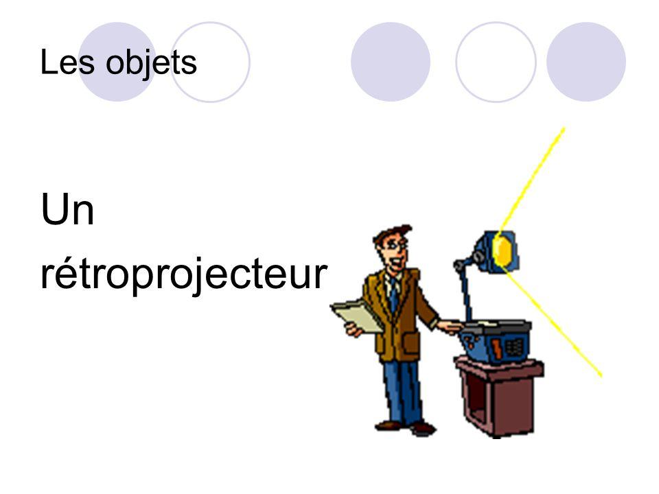 Les objets Un rétroprojecteur